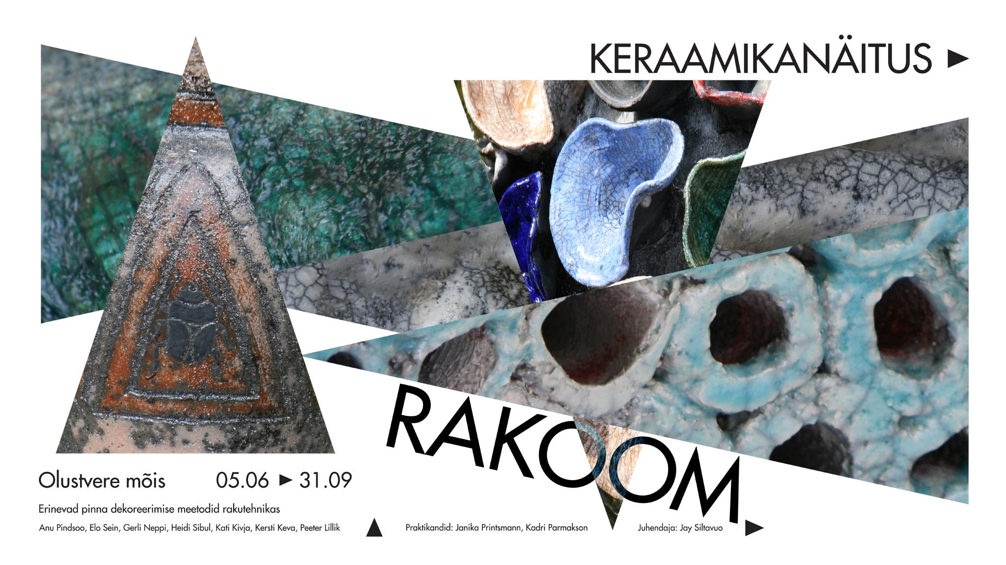Rakukeraamika näituse plakat
